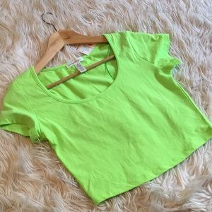 Ambiance apparel green crop top | size medium